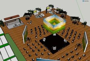 Arena de palestras e debates será montada no pavilhão Jorge Gertum